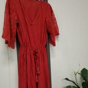Dresses & Skirts - Red boho style dress maxi